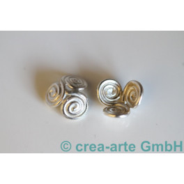 Perlkappen 925er Silber Schneggli 13mm 10St_821