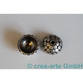 Perlkappen 925er Silber Wabe 12mm 10 St_822
