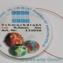 Schmuckdraht rot 0,5mm 5m_838
