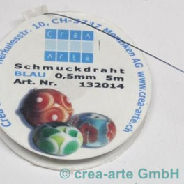 Schmuckdraht blau 0,5mm 5m_841