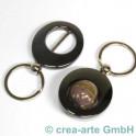 Ovalschlüsselanhänger schwarz metallic