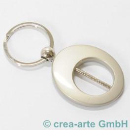 Ovalschlüsselanhänger metallic stahlgrau_859